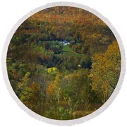 Montgomery Hillside Of Color Round Beach Towel