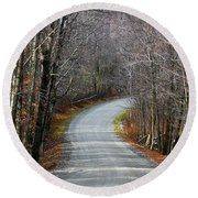Montgomery Mountain Rd. Round Beach Towel