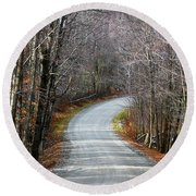 Montgomery Mountain Road Round Beach Towel