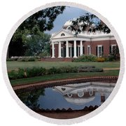 Monticello Reflections Round Beach Towel