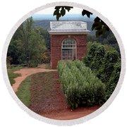 Monticello Vegetable Garden Pavilion Round Beach Towel