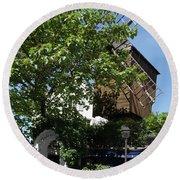 Montmarte Paris Windmill Round Beach Towel