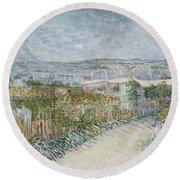 Montmartre  Behind The Moulin De La Galette Paris, July 1887 Vincent Van Gogh 1853  1890 Round Beach Towel