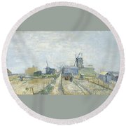 Montmartre   Mills And Vegetable Gardens Round Beach Towel