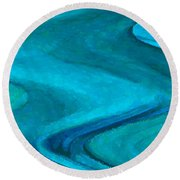 Montova Current Round Beach Towel