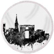 Montpellier Skyline-black Round Beach Towel