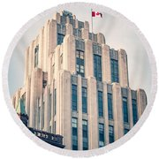 Montreal - Aldred Building Round Beach Towel