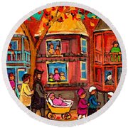 Montreal Early Autumn Round Beach Towel