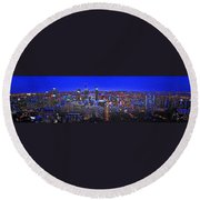 Montreal Etched Round Beach Towel