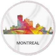 Montreal Que.skyline Round Beach Towel