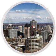 Montreal Seen From Above Round Beach Towel