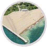 Montrose Beach Round Beach Towel