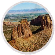 Monument Canyon Round Beach Towel