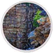 Monument Cove I Round Beach Towel