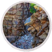 Monument Cove II Round Beach Towel