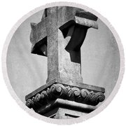 Monument Cross Macroom Ireland Round Beach Towel