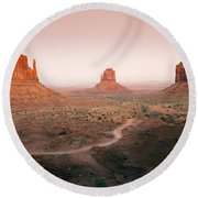 Monument Dusk Round Beach Towel