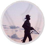 Monument Gettysburg Round Beach Towel