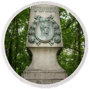 Monument Of Major Obrien In Jedlesee Vienna Round Beach Towel
