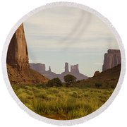 Monument Valley Round Beach Towel