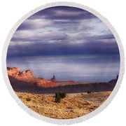 Monument Valley Morning Round Beach Towel