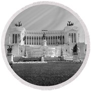 Monumental Architecture In Rome Round Beach Towel