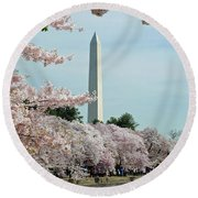 Monumental Cherry Blossoms Round Beach Towel