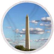 Monumental Obelisk Round Beach Towel