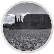 Monumentvalley 22 Round Beach Towel