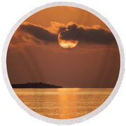 Mood Lighting Round Beach Towel