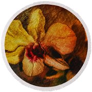 Mood Of The Orchid Round Beach Towel