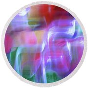 Moods Abstract Square Round Beach Towel