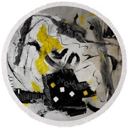 Moods Yellow Let It All Hang Out Round Beach Towel