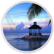 Moody Blues Round Beach Towel