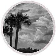 Moody Florida Sky Round Beach Towel