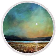 Moody Light Round Beach Towel