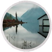Moody Reflection Round Beach Towel