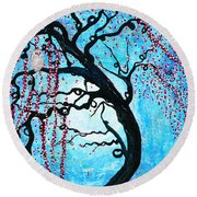 Moon Blossoms Round Beach Towel