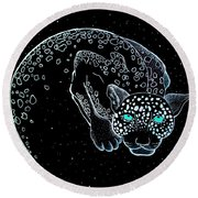Moon-cat  Round Beach Towel