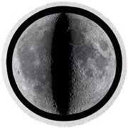 Moon Composite, First And Last Quarter Round Beach Towel