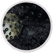 Moon Drops Round Beach Towel
