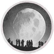 Moon - Id 16236-105000-9534 Round Beach Towel