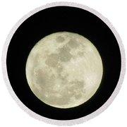 Moon In The Dark Sky Round Beach Towel