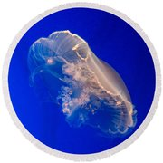 Moon Jelly Series #2 Round Beach Towel
