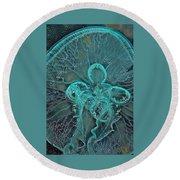 Moon Jellyfish Art Round Beach Towel