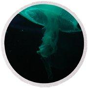 Moon Jellyfish Round Beach Towel