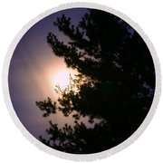 Moon Magical Glow Round Beach Towel