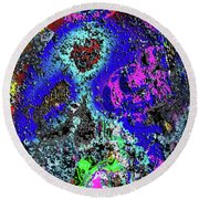 Moon Of Another Planet Round Beach Towel