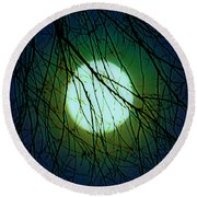 Moon Of The Werewolf Round Beach Towel