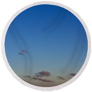 Moon Over Clouds Round Beach Towel